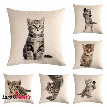 Pet Cat Cushion Cover Decorative Cushion Covers Throw Pillow Chair Decor Pillow Case