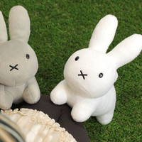 Strapya World : Miffy Character Cute Plush Type Doll (White)
