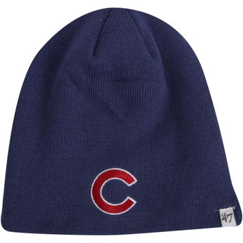 47 Brand Chicago Cubs Cuffless Knit Hat - Royal Blue