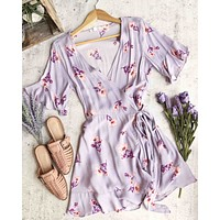 cotton candy la - best buds wrap dress - lilac
