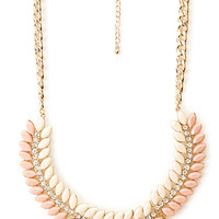 FOREVER 21 Glam Girl Wreath Necklace Peach/Pink One