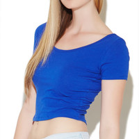Crop Scoop Neck Tee - WetSeal