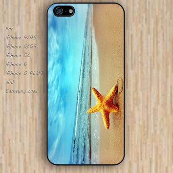 iPhone 5s 6 case Beach starfish Dream colorful phone case iphone case,ipod case,samsung galaxy case available plastic rubber case waterproof B477