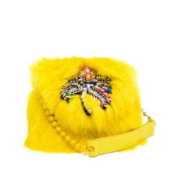 SHOUROUK | Fur Daktari Bag | Browns fashion & designer clothes & clothing