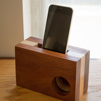 iPhone Amplifier - iPhone Speaker - Desk Accessories - Office Decor - iPhone Dock - Phone Station - Portable iPhone Speaker - Tech Gift
