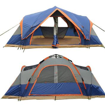 4 Season Outdoor Automatic 5-6 Person Double Layer Waterproof Family Tent