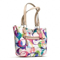 Coach :: Poppy Stamped c Small Tote