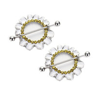 14G Daisy Nipple Rings