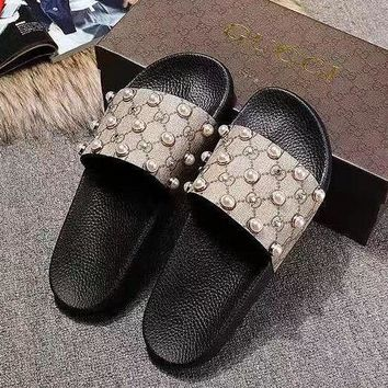 Gucci Beads Slippers