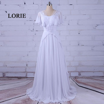 LORIE Mother of the bride dresses Sweetheart Short Sleeve Chiffon Plus Size Evening Dress Prom Gown vestidos largo de noche 2017