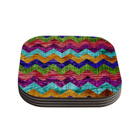"Beth Engel ""Natural Flow"" Chevron Coasters (Set of 4)"