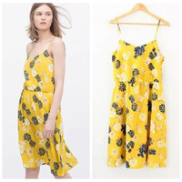 Summer Bohemia Spaghetti Strap Dress Print Maxi Dress One Piece Dress [4920223876]