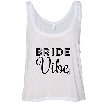 Bride Vibe Cropped Flowy Tank Top