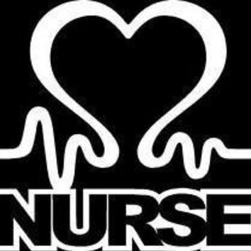 Nurse Heart Vinyl Car Decal