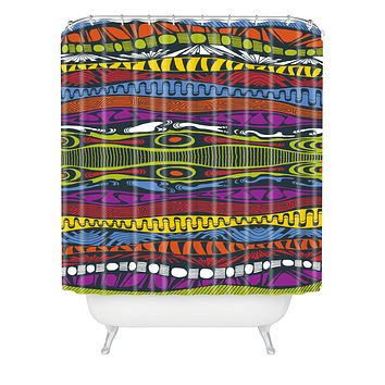 Karen Harris Wavelength Island Chic Shower Curtain