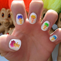 Troll Doll // Nineties // Toys // 90s // Trends // Nail Decals Transfer Nail Stickers //