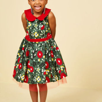 Siena's Fa La La Lovely Dress - 2T-8Y | Mod Retro Vintage Dresses | ModCloth.com