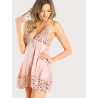 Guipure Lace Panel Nightdress