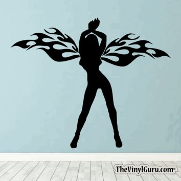 Sexy Angel Pin-Up Girl Wall Decal #00008
