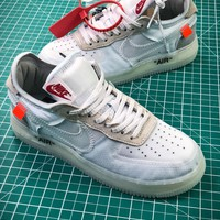 Off White X Nike Air Force 1 Low Premium White Sport Shoes - Best Online Sale