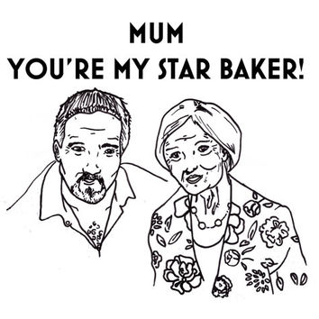 funny mothers day card great british bake off birthday star baker paul hollywood mary berry mum mummy handmade