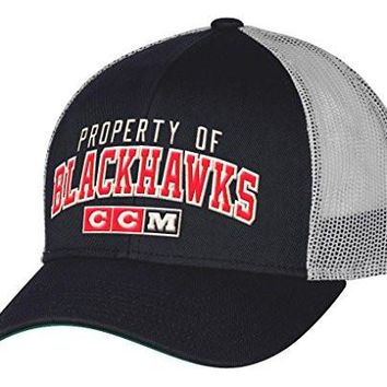Chicago Blackhawks Structured Adjustable Hat By CCM