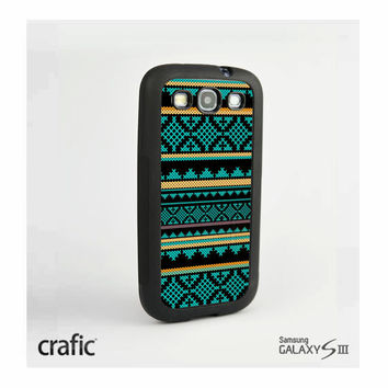 Mint yellow Aztec Case Samsung i9300 Galaxy S3 III