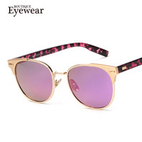 BOUTIQUE Women Brand Design Alloy Frame High Quality Fashion Women Round Sunglasses H1605