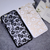 Lace Leaf Cover Case for iPhone 5s 6 6s Plus Gift