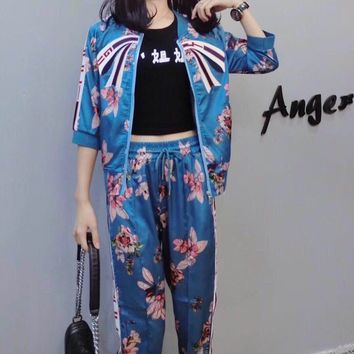 e4a274785 Gucci Clothes Women Fashion Edgy Bow Floral Multicolor Stitchi