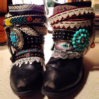 """The """"Gemma"""" - Custom Upcycled Leather Cowboy Boots"""