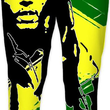 Feeling sunny Rasta, green - jamaica flag, reggae music joggers, jogging pants design