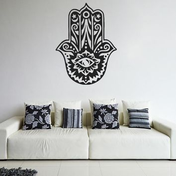 ik905 Wall Decal Sticker hamsa hand protective amulet bedroom