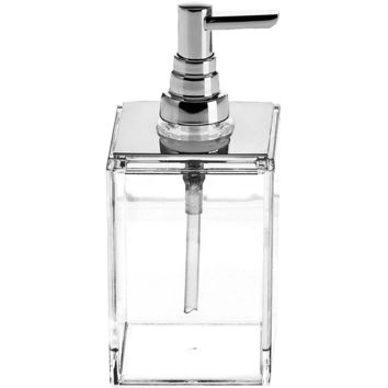 DWBA Soap Lotion Dispenser Pump for Kitchen/ Bathroom Countertops. Acrylic Clear