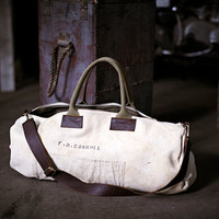 Men's Canvas and Leather Duffel Bag by forestbound on Etsy