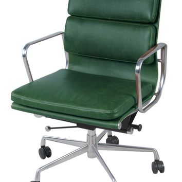 Chandel Low Back Office Chair, Vintage Asparagus Green