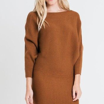 So Kate Sweater Dress - Rust