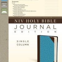 NIV Holy Bible, Journal Edition - Brown/Turquoise LeatherSoft
