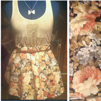 Floral skirt by AngeliqueMerici on Etsy