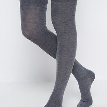 Charcoal Gray Thigh High Socks