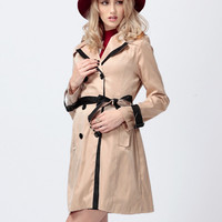 'The Kaelyn' Lapel Collared Trench Coat