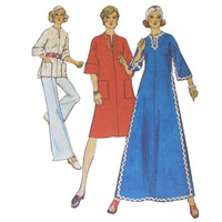 Caftan Sewing Pattern Simplicity 6390 Misses' Dress, Top, Circa 1970 Size 10 Bust 32 1/2 inch