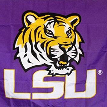 LSU Tigers College Premium Polyester Flag Banner Sign