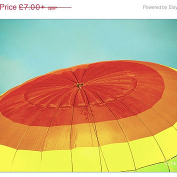 ON SALE Inflatable Rainbow - Hot Air Balloon photography - Colourful art print - home decor - gifts ideas