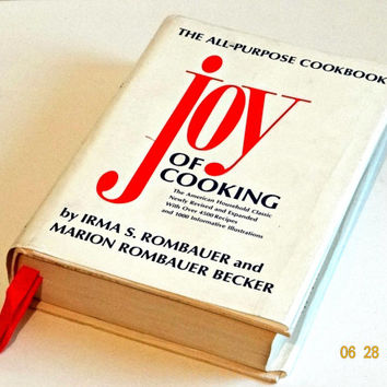 Vintage Joy Of Cooking Cookbook with Dust Cover, Vintage Kitchen Baking, 1970s Cookbook, Collectible Cookbook, Wedding Shower Gift