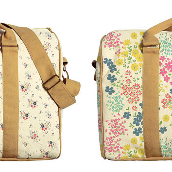 Seamless Floral Patterns Print Oversized Canvas Duffle Luggage Travel Bag WAS_42