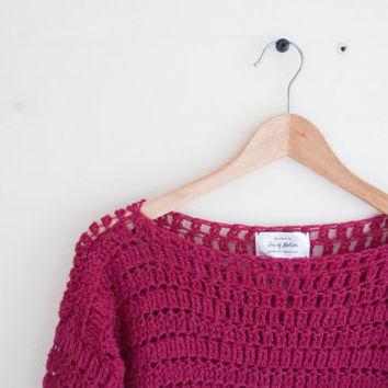 Winter sweater crochet pattern easy