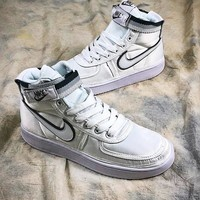 Nike Vandal High Supreme QS AH8652-001 All White Sport Basketball Shoes - Best Online Sale