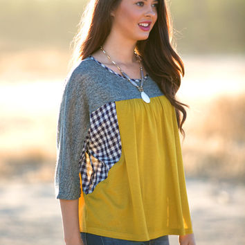 Best I Ever Plaid Woven Top