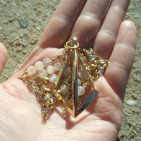 A New You - Moonstone Pyramid Necklace